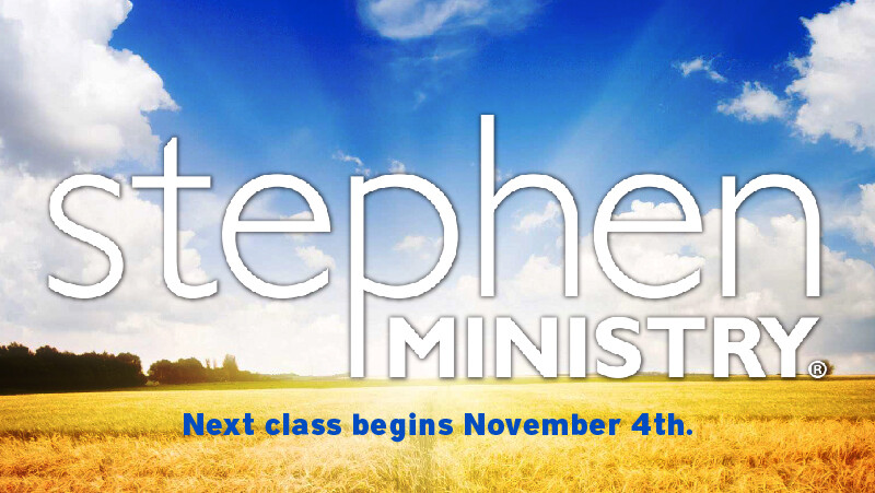 Stephen Ministry Training Class