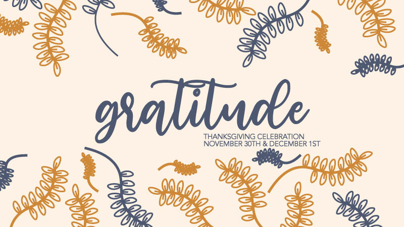 Gratitude - a message for Thanksgiving Weekend